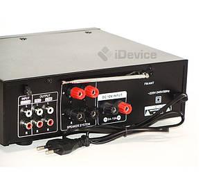 Стерео усилитель звука UKC AV-339B Bluetooth, USB, Karaoke, фото 2