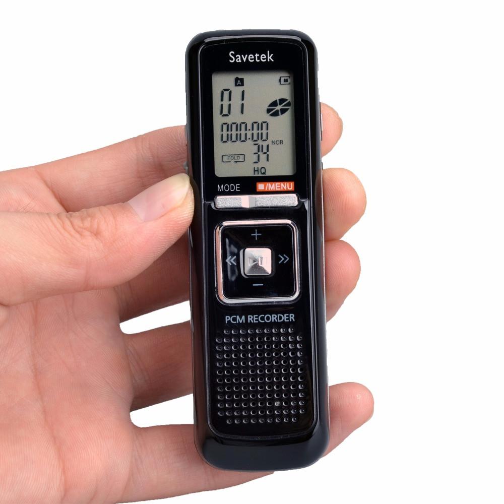 Цифровой диктофон Savetek CL-R50 8 Гб, MP3 плеер, активация голосом.