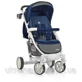 Детская всесезонная коляска трансформер El Camino. 3 положения спинки. Большой капюшон. ME 1011L ZETA Синий