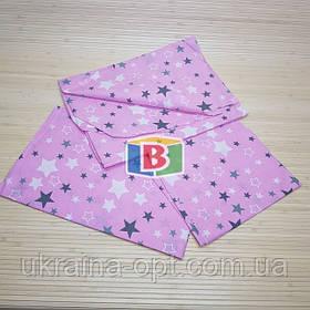Детское сменное постельное белье в кроватку 3в1 Фиолетовый