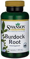 Корень лопуха, 460 мг, 100 капсул, Burdock Root, Swanson Premium, США