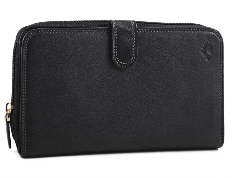 Класичний шкіряний гаманець-клатч