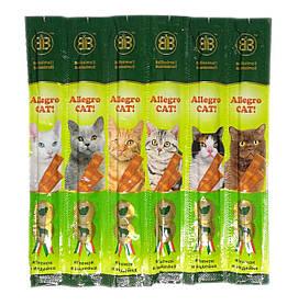 Колбаски с ягненком и индейкой для кошек B&B Allegro Cat 6 шт.