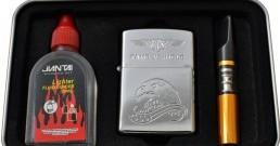 Мужской набор 3 в 1 (зажигалка мундштук бензин) №3862 Что подарить Успей приобрести Бензин Мундштук Зажигалка