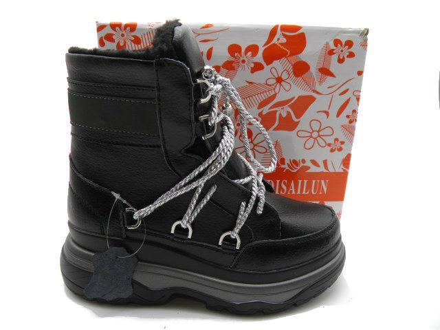 Ботинки * женские KDSL 205-7 черный зимние