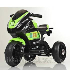 Електромотоцикл дитячий триколісний. MP3. Два мотора 25W, два акумуляторів 6V4AH. Bambi M 4135L-7 Зелений