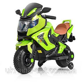 Дитячий електромотоцикл. Світлові і звукові ефекти. USB,TF. Bambi M 3681AL-6 Зелений