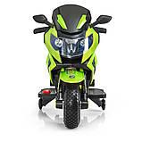 Детский электромотоцикл. Световые и звуковые эффекты. USB,TF. Bambi M 3681AL-6 Зеленый, фото 2