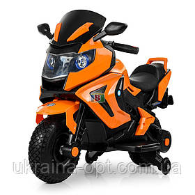 Детский электромотоцикл. Световые и звуковые эффекты. USB,TF.Bambi M 3681AL-6 Оранжевый