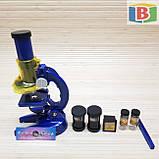 Детский игровой микроскоп с телескопом 2 в 1. Научная лаборатория 16 предметов, фото 3