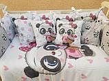 Комплект в детскую кроватку 8 в 1 Спальный комплект для девочки, фото 5