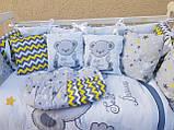 Комплект в детскую кроватку 8 в 1 Спальный комплект для девочки, фото 7