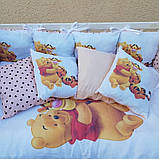 Комплект в детскую кроватку 8 в 1 Спальный комплект для девочки, фото 8