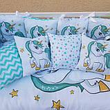 Комплект в детскую кроватку 8 в 1 Спальный комплект для девочки, фото 10