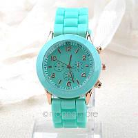 Модные стильные женские часы GENEVA Luxury ,мятные