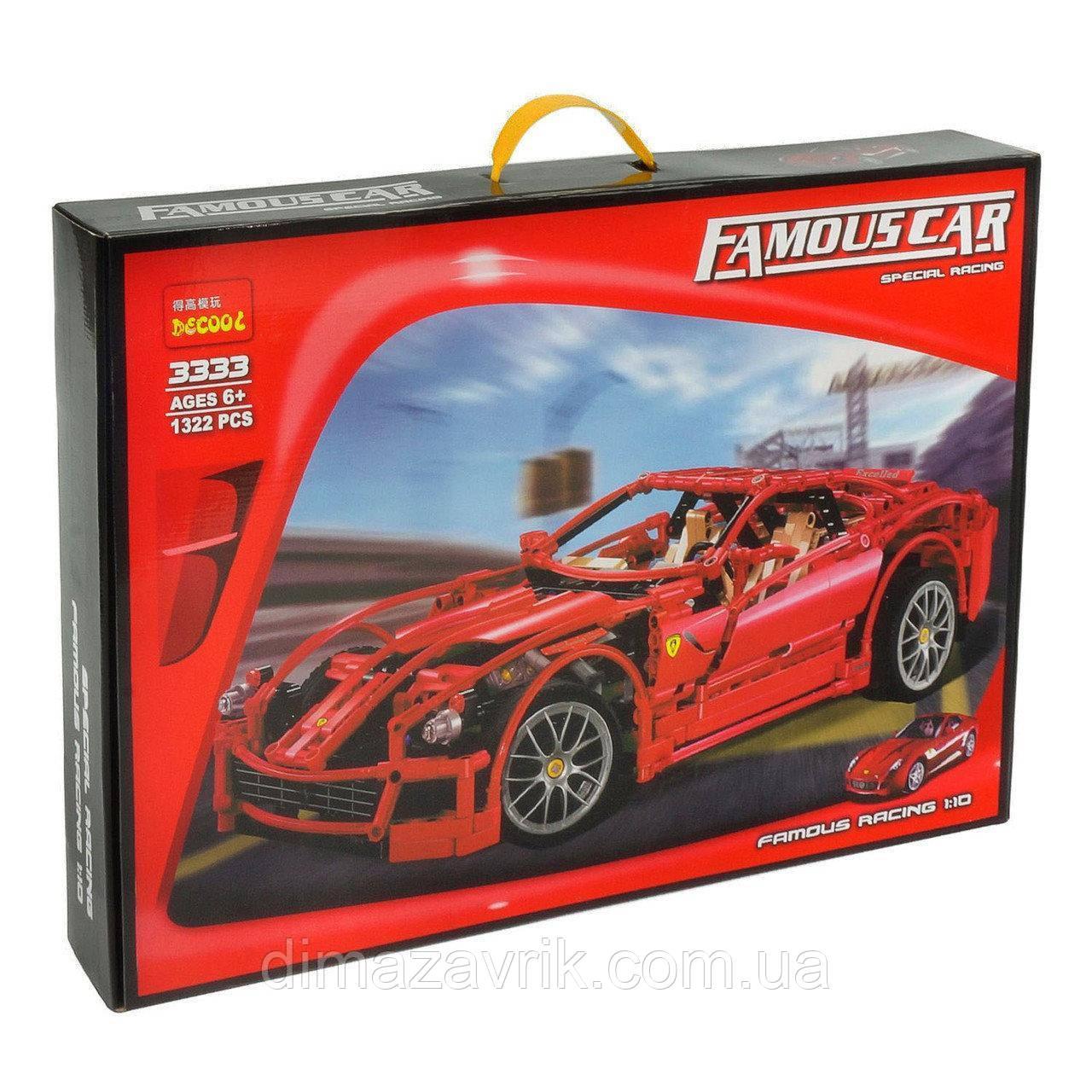"Конструктор Decool 3333 (Аналог Lego Technic 8145) ""Ferrari 599 GTB Fiorano"" 1322 деталей"