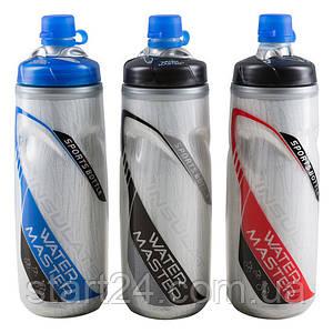 Бутылка для воды, 2-хслойная, t до 100, 3 цвета.