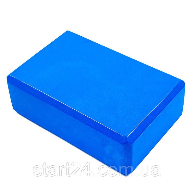Йога блок  23*15*7,5см, синий, вес 125г. Скидка 18% от 50 шт