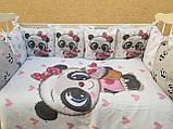 Комплект в детскую кроватку 8 в 1 Спальный комплект для девочки, фото 6