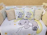 Комплект в детскую кроватку 8 в 1 Спальный комплект для девочки, фото 9