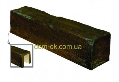 Балка из полиуретана DecoWood Модерн ED 106  classic темная 12х12/ длина 4м