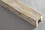 Балка из полиуретана Рустик EQ 004  classic светлая 19х17/ длина 4м, фото 7