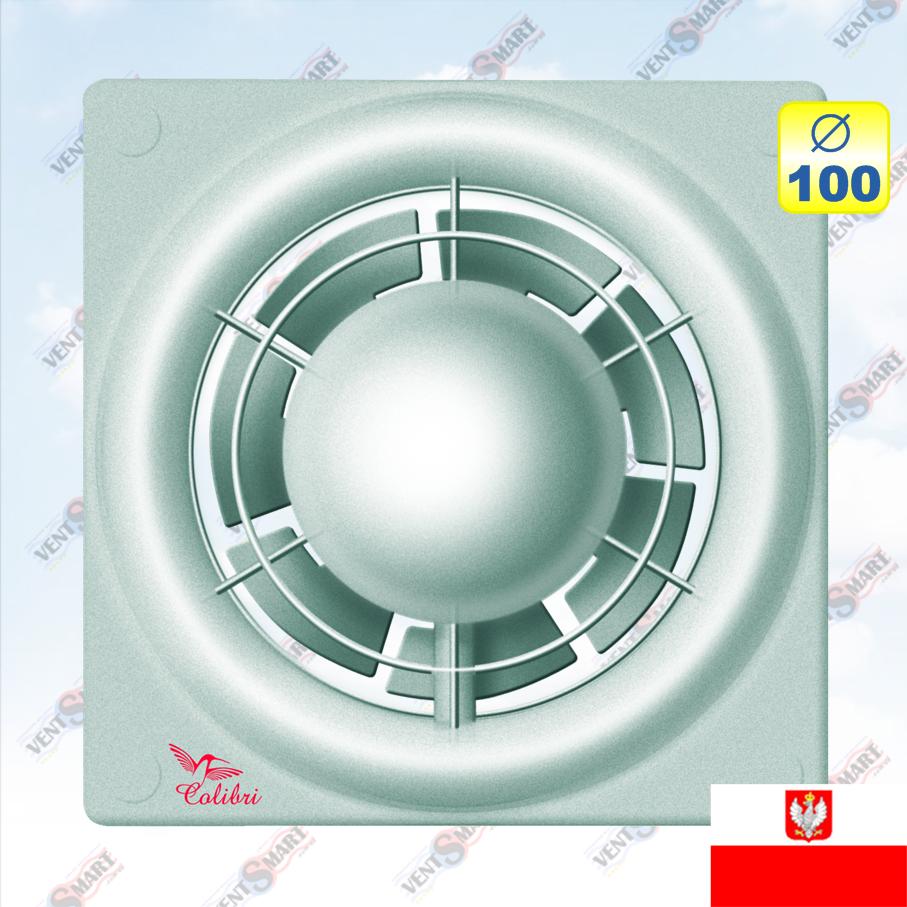 Недорогой серебристый вентилятор Colibri Flight 100 silver