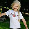 Детская вышиванка короткий рукав Мак крестиком 92-152