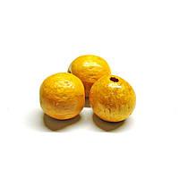 Бусины деревянные круглые 8мм жёлтые