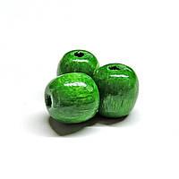 Бусины деревянные круглые 8мм зелёные