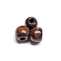 Бусины деревянные круглые 8мм коричневые