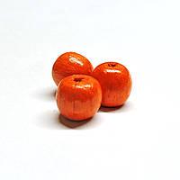 Бусины деревянные круглые 8мм оранжевые