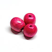 Бусины деревянные круглые 8мм пурпурные