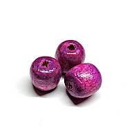 Бусины деревянные круглые 8мм фиолетовые