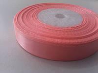Лента атласная розовая 12 мм бобина 23 м