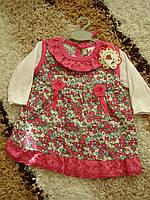 """Платье """"Краса"""" (74см) малина, красный"""