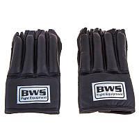 Перчатки шингарты BWS, кожа, рр. M, L, черный.