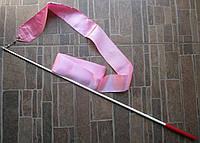 Лента гимнастическая розовая ( 6 м)