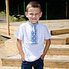 Футболка вышиванка на мальчика с орнаментом короткий рукав размер 92-152