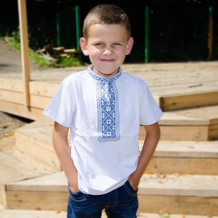 Футболка вышиванка на мальчика с орнаментом короткий рукав размер 92-152, фото 2