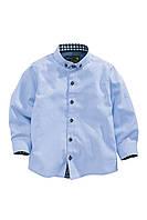 Рубашка голубая  (от 3 мес. до 6 лет)