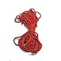 Канат джутовый кручёный 6мм красный