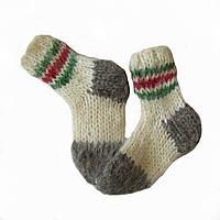 Детские носки из овечьей шерсти ручной вязки НО3