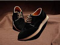Мужские туфли Brogues в замше