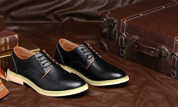 Туфли мужские в коже