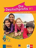 Die Deutschprofis A1 Kursbuch mit Audios und Clips online. Немецкий язык