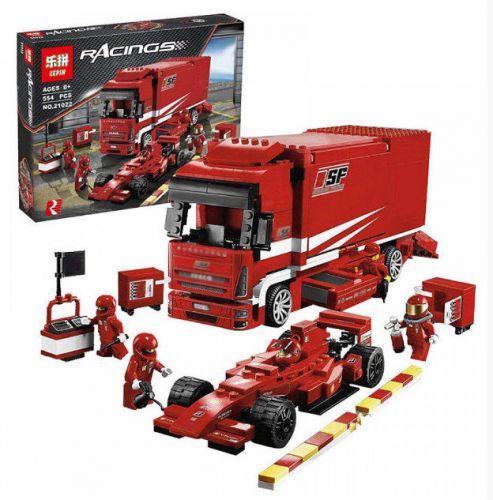 """Конструктор """"Racers"""" """"Вантажівка Ferrari"""" (коробка, 554дет.) 21022 р.53*43*10 см"""