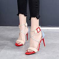 Модные босоножки на высоком каблуке, фото 1
