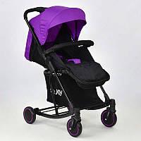 Коляска детская Joy фиолетовая, с функцией качания - 183375