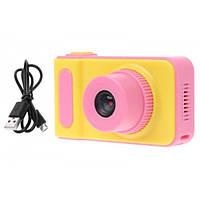 Интерактивная игрушка детский цифровой фотоаппарат с экраном DVR Baby Camera V7 Цветная фотокамера Pink